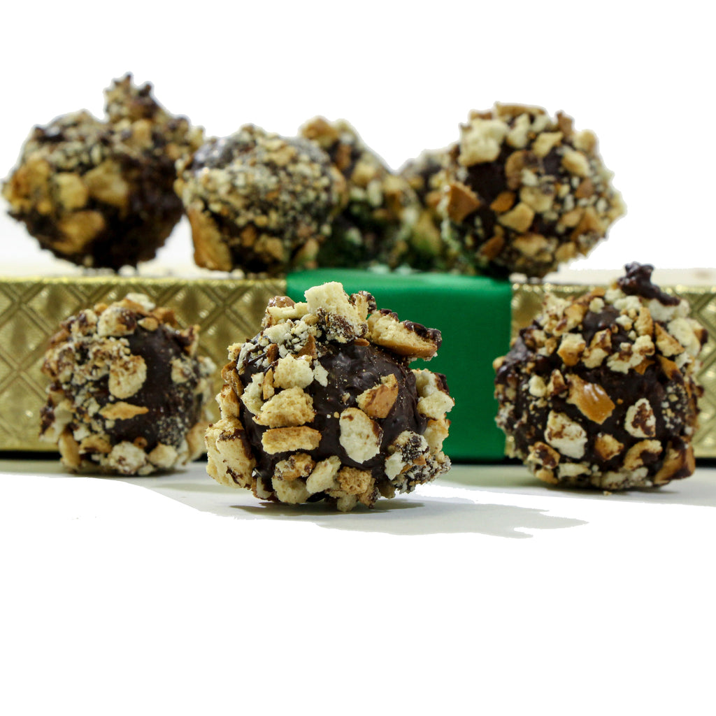 Guinness Irish Stout & Pretzel Dark Chocolate Truffles - Sugar Plum Chocolates