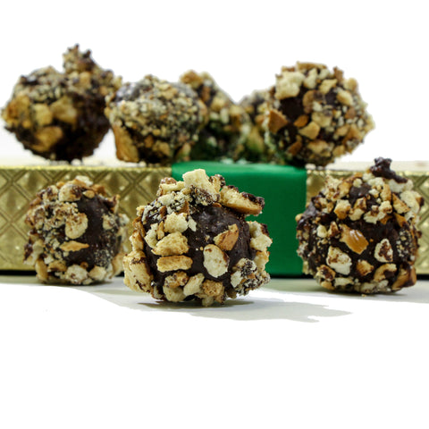 Guinness Irish Stout & Pretzel Dark Chocolate Truffles