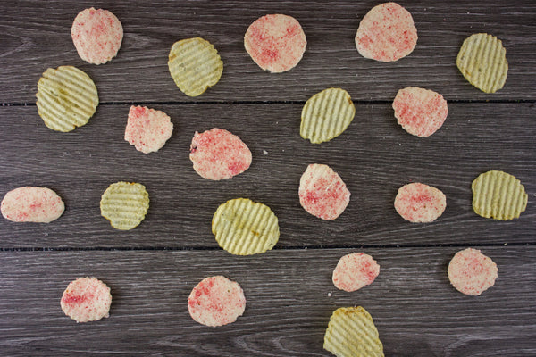 Peppermint-Dusted White Chocolate-Covered Potato Chips - 8 Ounces