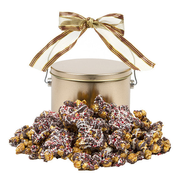 Frosty's Chocolate-Drizzled Peppermint Caramel Popcorn