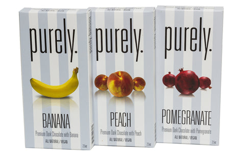 Purely Vegan Fruit-Infused Dark Chocolate Bars - Set of 3 - Sugar Plum Chocolates