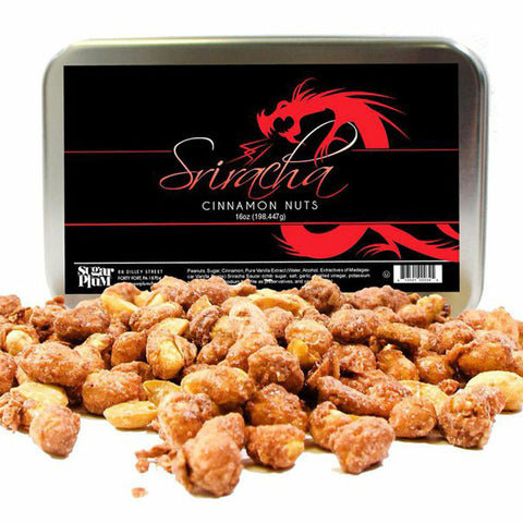 Sriracha Infused Peanuts - 16oz Gift Tin - Sugar Plum Chocolates