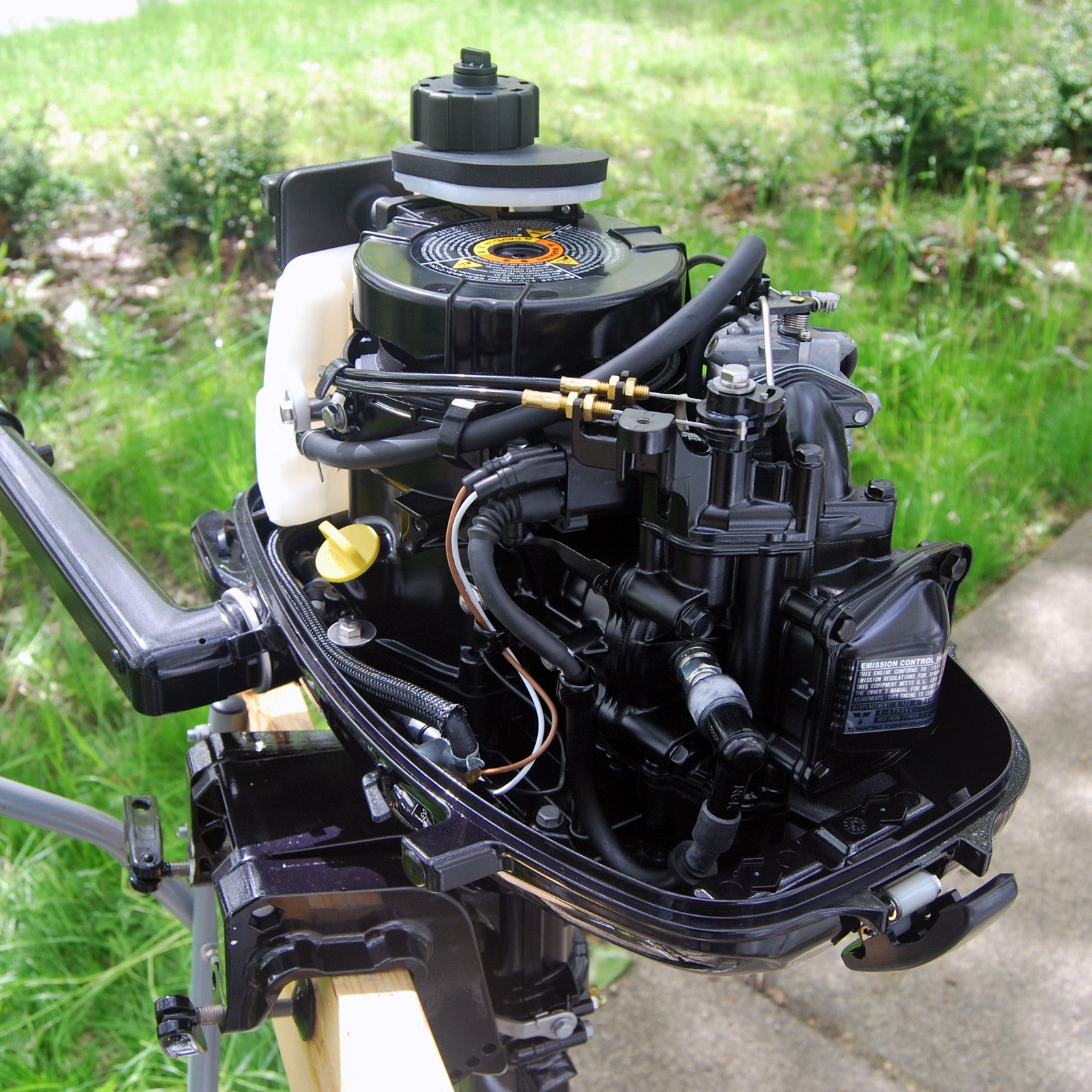 Tohatsu 4 stroke 6hp outboard motor tiller handle new in for 6 hp motor for sale