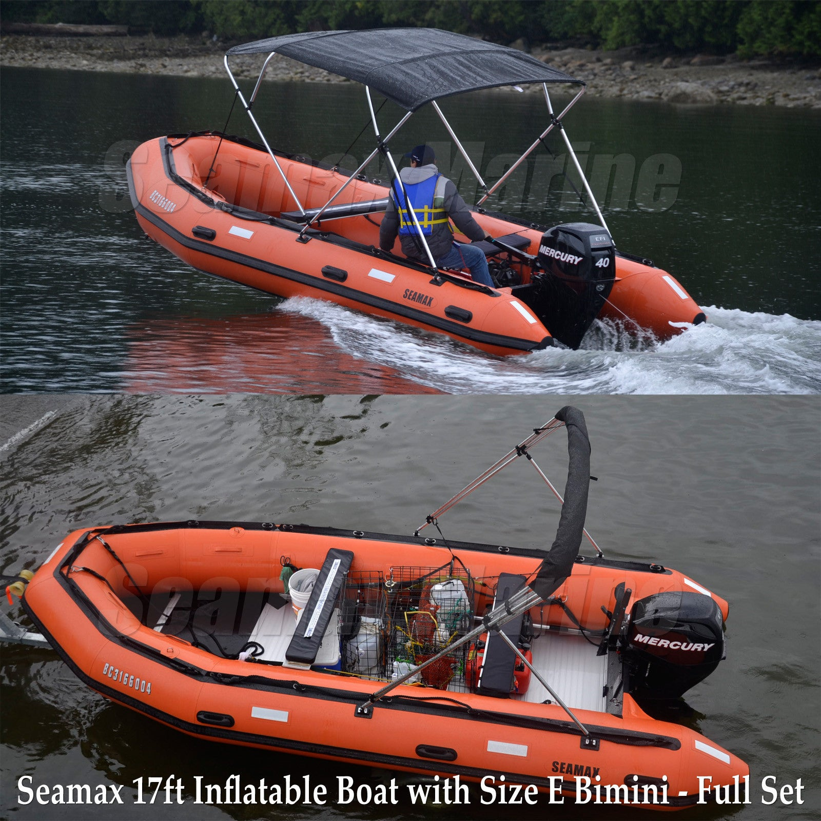 Seamax Developed Bimini Top Pontoon Fitting Kit for Inflatable Boat