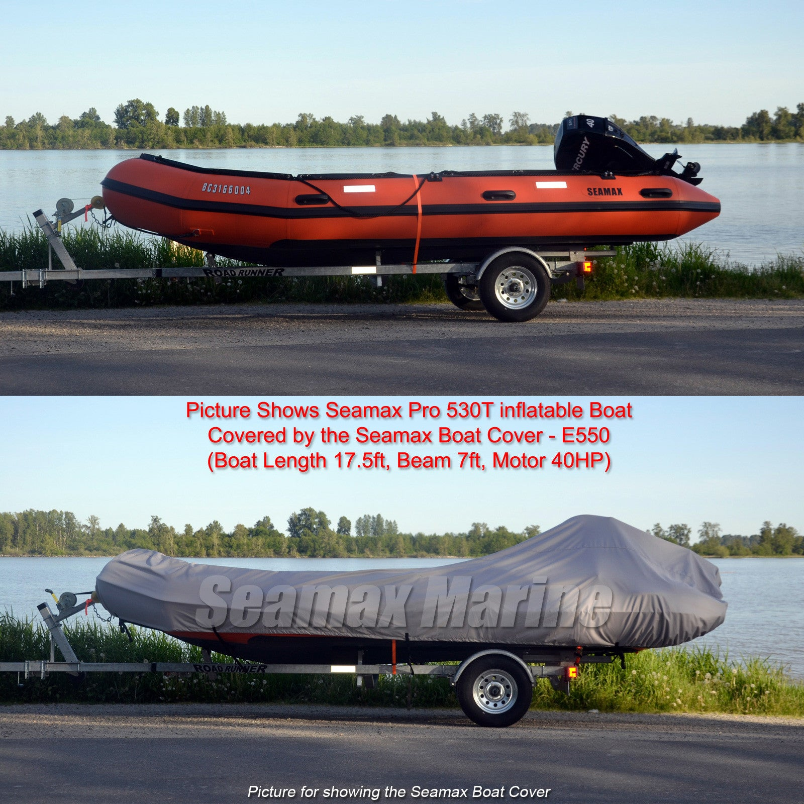 Inflatable Boat Cover F Series For Beam 7 6 8 4ft 4