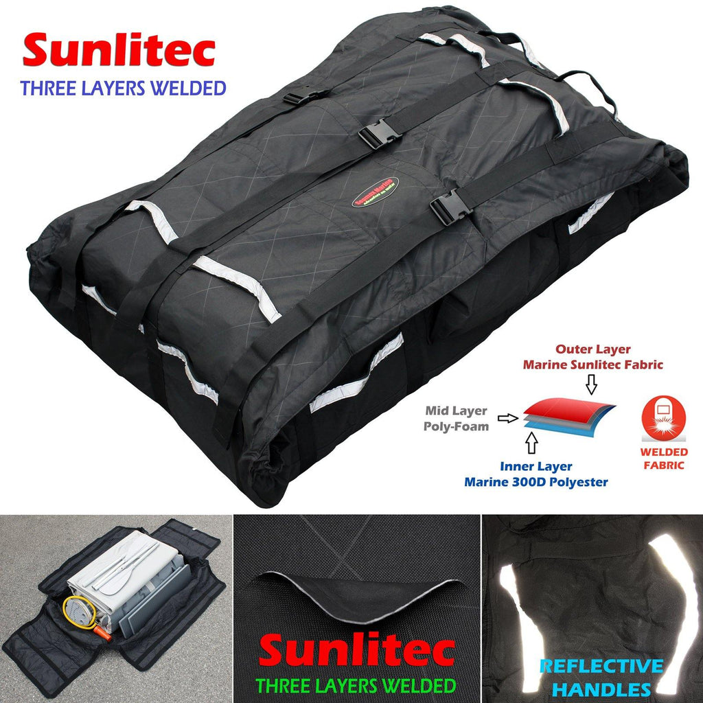 Universal Foldable Inflatable Boat Hull Storage and Carrying Bag with  Sunlitec Fabric and Reflective Edges