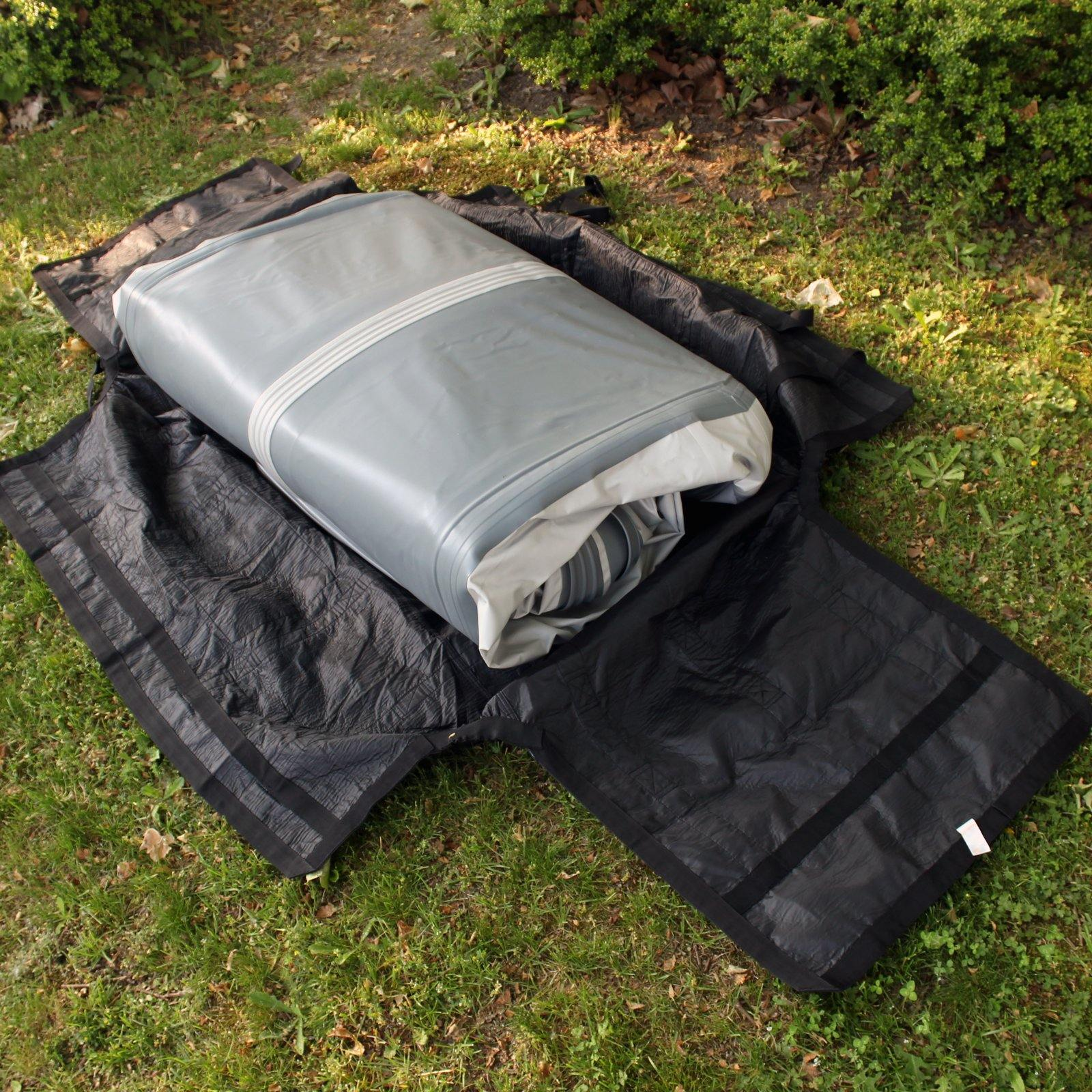Seamax Foldable Inflatable Boat Reflective Handles Storage and Carrying Bag with Sunlitec Fabric Hull