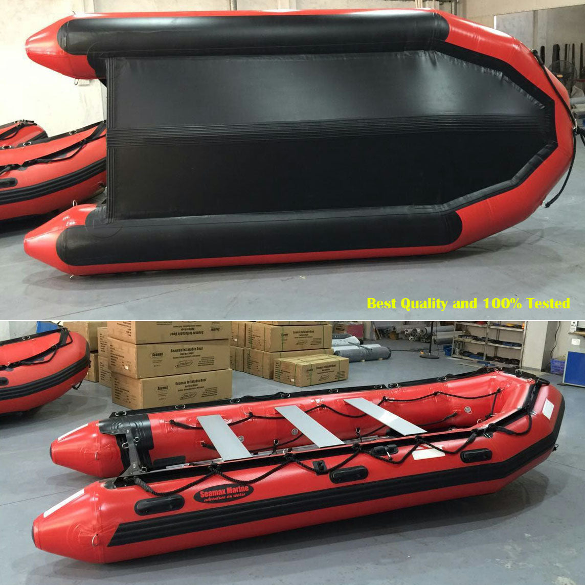 Seamax Ocean430T 14 Feet Commercial Grade Inflatable Boat, Max 10  Passengers and 35HP Rated