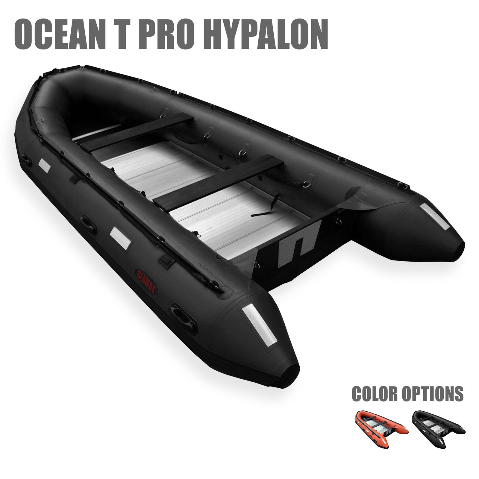 Seamax Pro OceanT Hypalon Commercial Grade Inflatable Boat, with Heavy Duty  Alumium Floor (Boat Only)