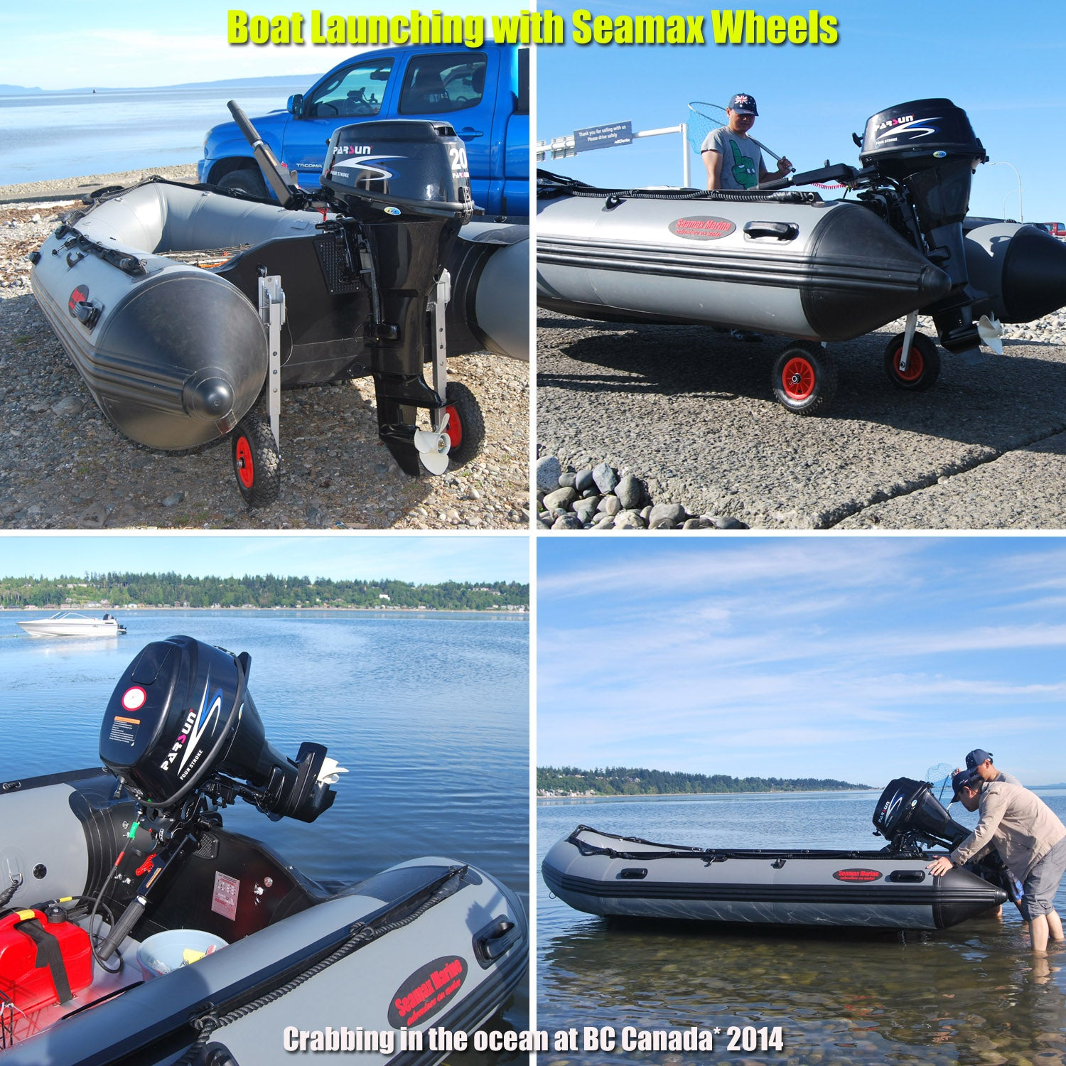 Seamax Ocean430 14 Feet Heavy Duty Inflatable Boat, Max 9 Passengers and  35HP Rated