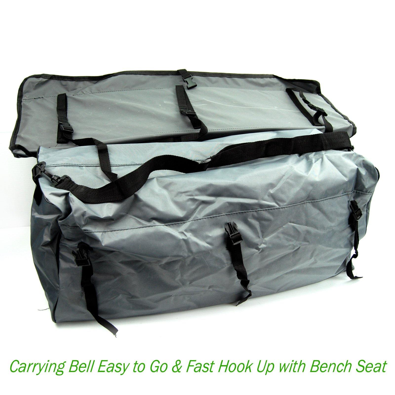 Bench Seat Cushion with Detachable Under Seat Storage Bag for All  Inflatable Boats