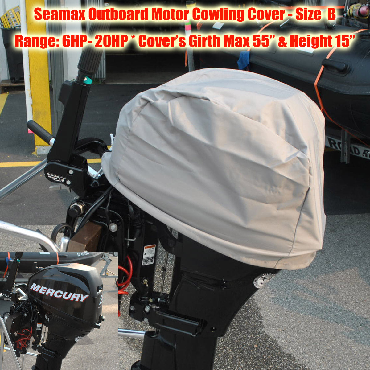 ... Outboard Motor Cowling Cover – 600D Polyester Coated PU Water Resident  - Seamax Marine ...