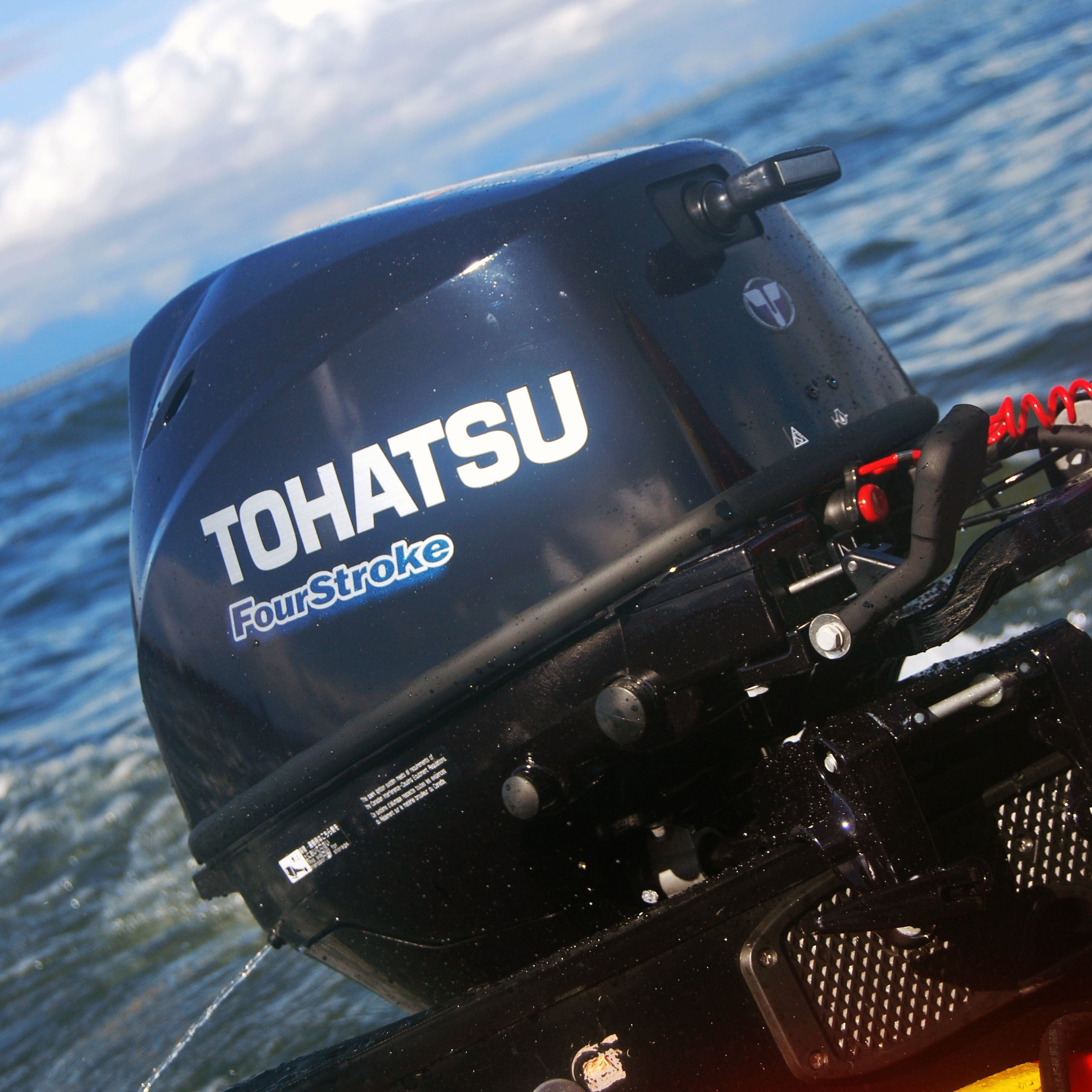 Tohatsu 4-Stroke 9.8HP Outboard Motor, Tiller Handle, New in the box -  Seamax Marine