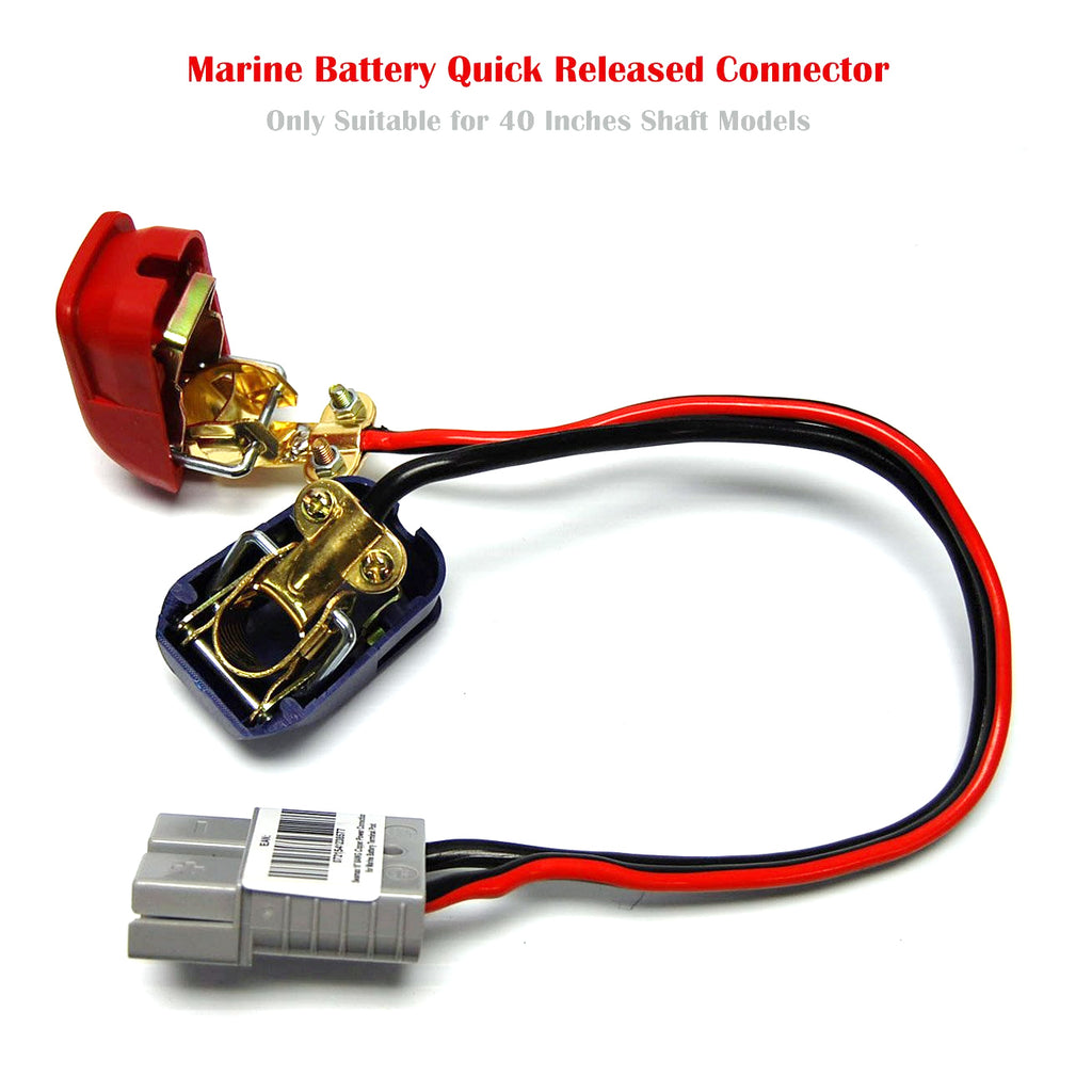 Electric Trolling Motor Seamax Marine Battery Wiring Diagram Quick Released Connector For Terminal Suitable 2018 40