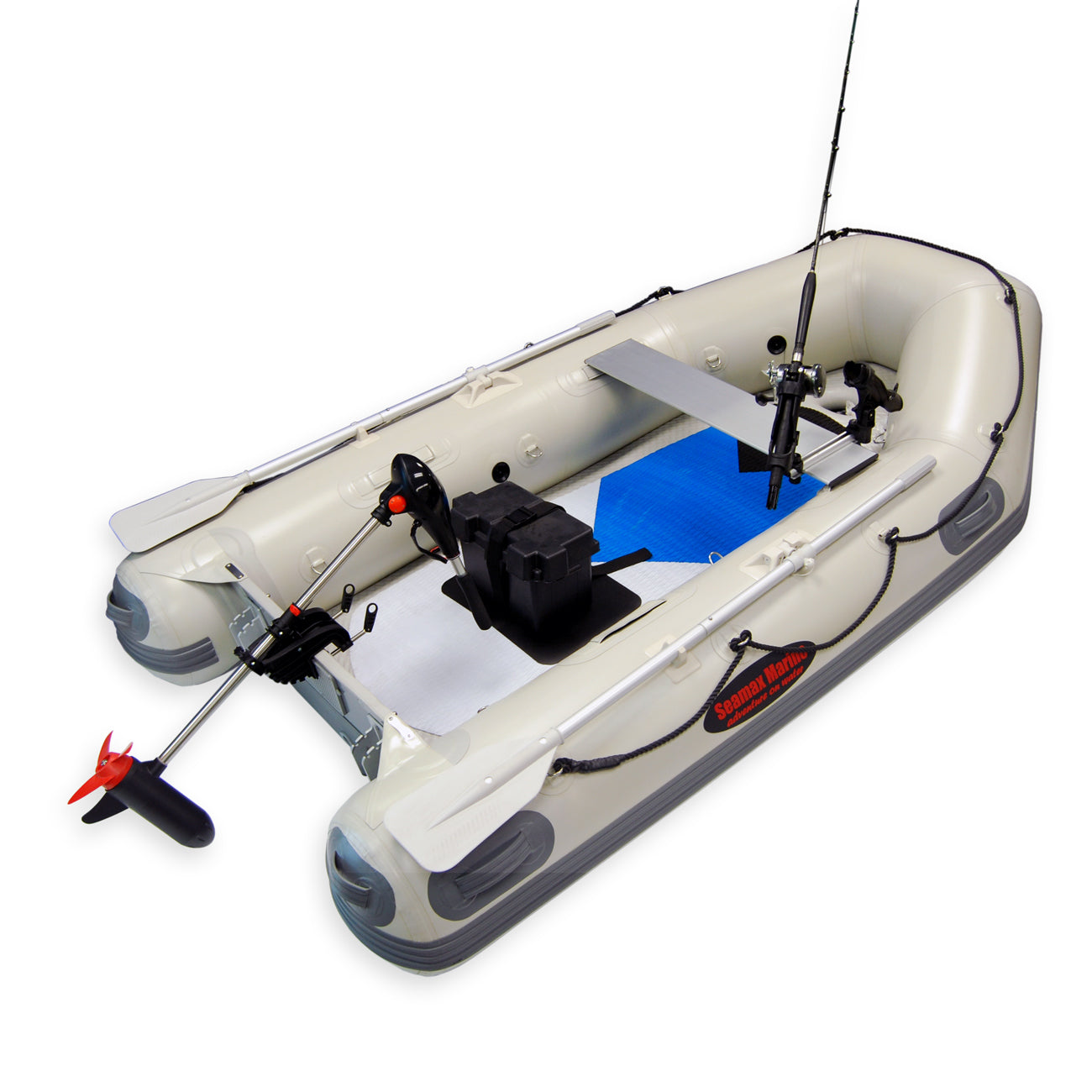 58LBS 12V Electric Trolling Motor Outboard Motor Inflatable Fish Boats Engine