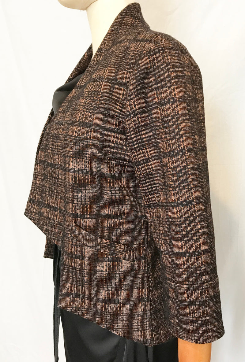 Angle Jacket in knit plaid by denovo