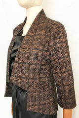 ANGLE BLAZER in Rust Plaid