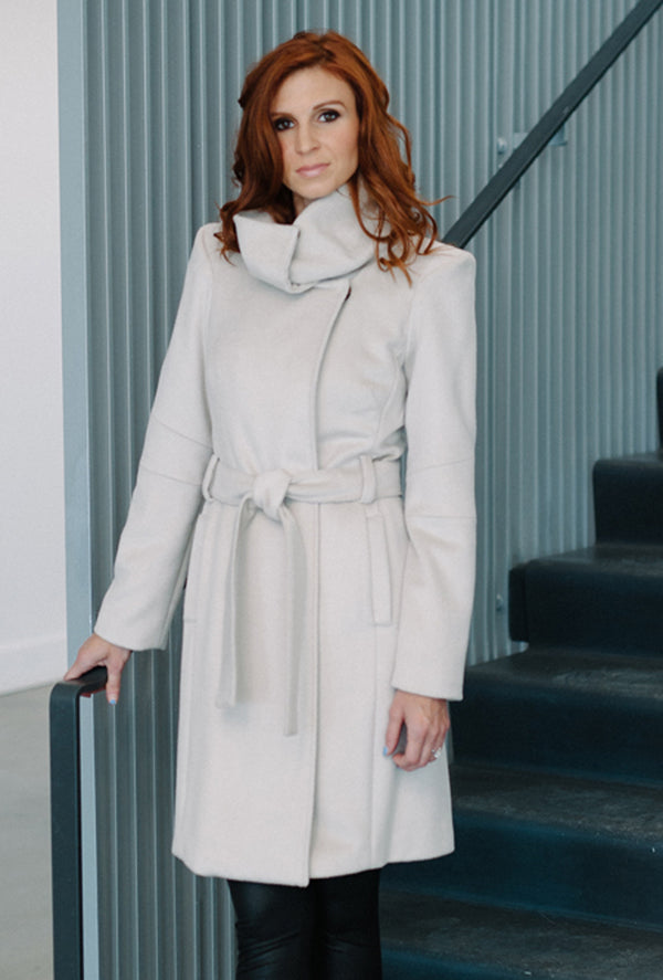 winter white cashmere coat by denovo