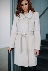 Architects Coat in winter white cashmere