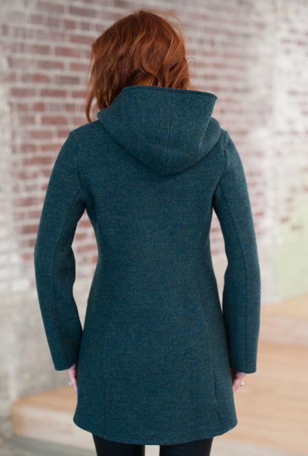 back of merino wool coat