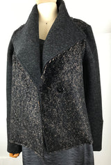 shawl collar alpaca jacket