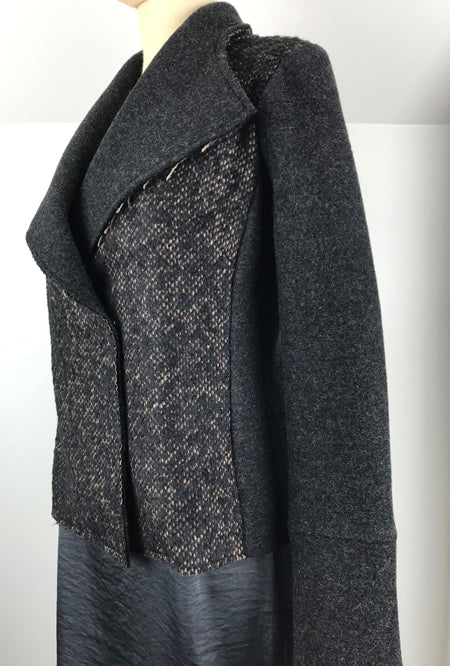 women's short jacket in alpaca and merino