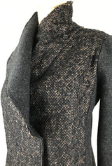 merino and alpaca dark gray jacket