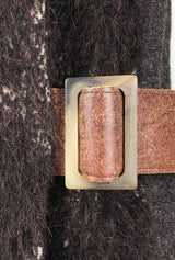 leather buckle of alpaca coat by denovo