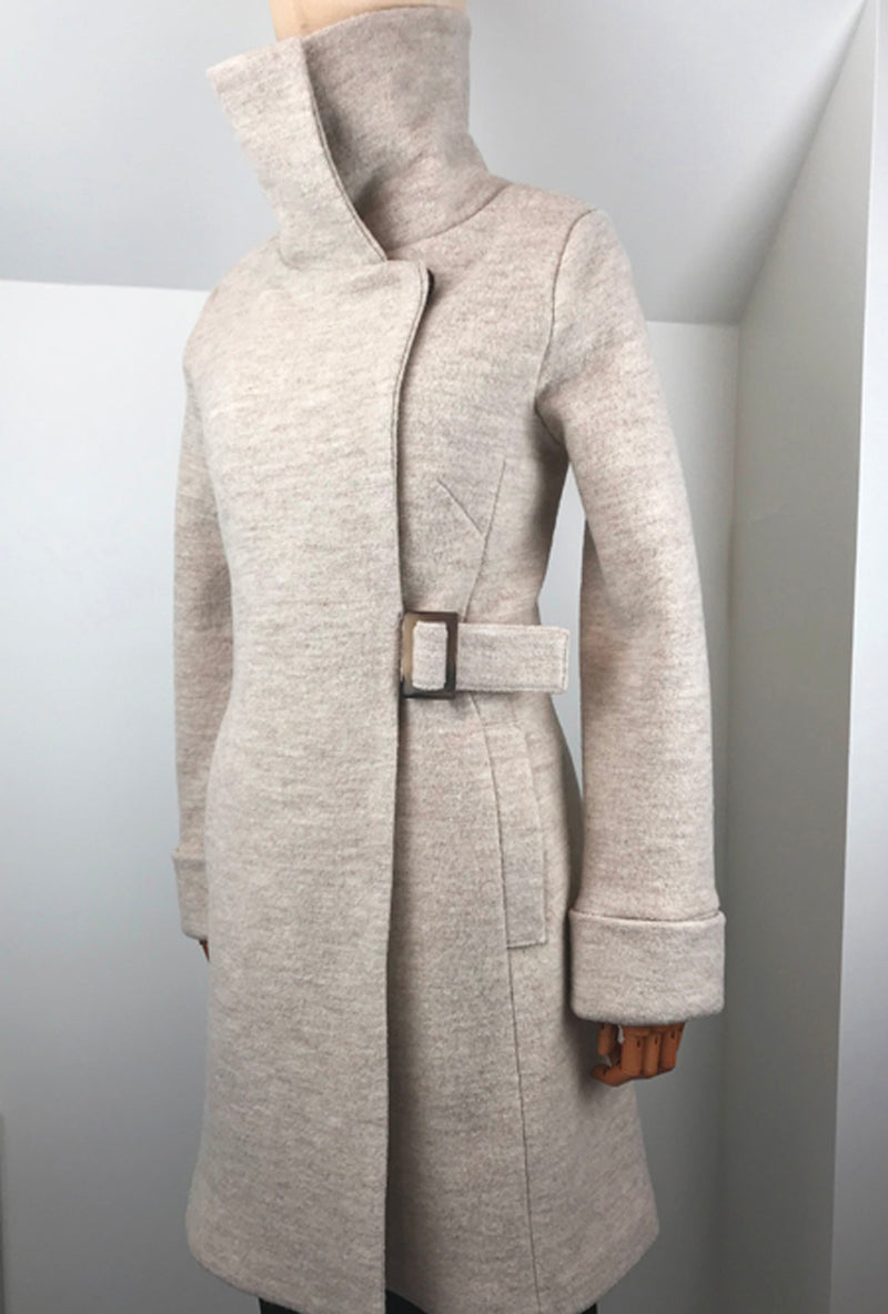 white merino women's winter coat