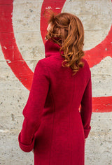 COWL NECK COAT Ruby Merino