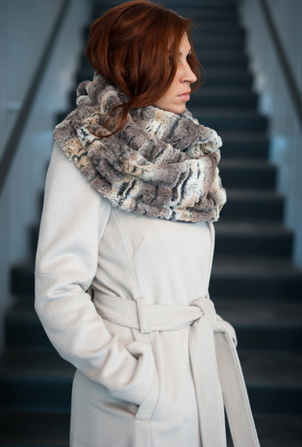 faux fox fur scarf stole