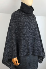 light weight women's poncho in gray