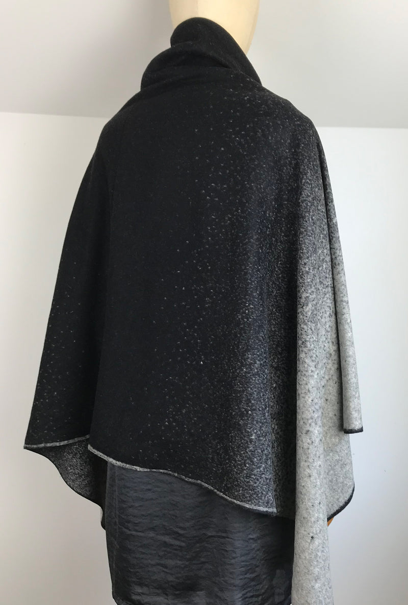back of ombre poncho
