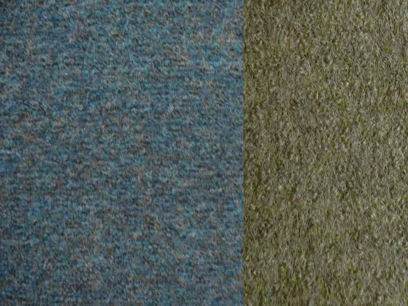 fabric of blue green merino coat