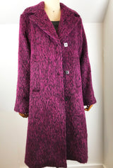 square snaps on alpaca women's coat