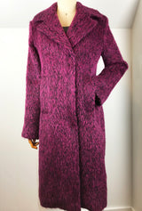 fuchsia alpaca women's winter coat