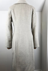 back detail of off white winter coat
