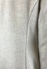 winter white brushed wool coat