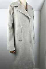 winter white italian wool winter coat