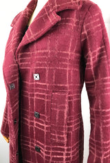square snaps on flocked wool coat