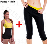 Hot on tv Leg Sauna Shapers Fit Sweat fitness set Body Shaper pants Slimming suit for women weight loss waist trainer belt - almaj A touch of Class - 2