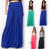 Womens Pleated Maxi Skirt  Casual - almaj A touch of Class - 1