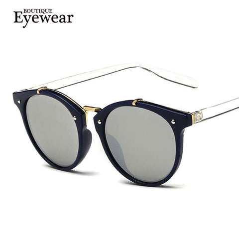BOUTIQUE  Round Sunglasses Designer Eyewear Gradient