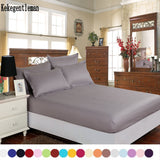 Kekegentleman Home textile 100% cotton sheets  mattress cover bed sheet solid color fitted sheet bedspread