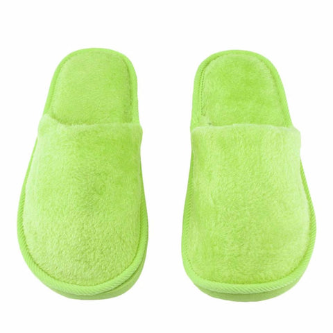 Plush Indoor Home House Women Men Home Anti Slipping Shoes Soft Sole Warm Cotton Silent Adult Slippers