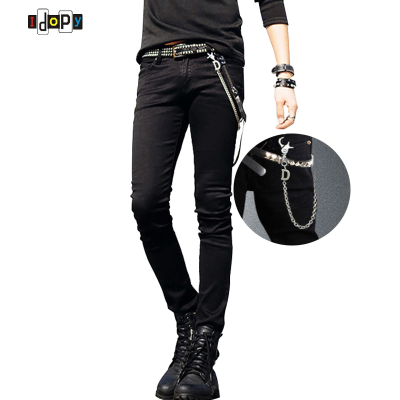 Designer Slim Fit Jeans With Chain - almajvirtualsolutions - A touch of Class