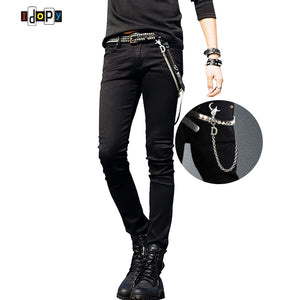 Designer Slim Fit Jeans With Chain