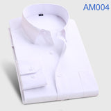 Men's Fashion  Long Sleeve Turn Down Collar casual shirts - almaj A touch of Class - 4
