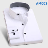 Men's Fashion  Long Sleeve Turn Down Collar casual shirts - almaj A touch of Class - 10