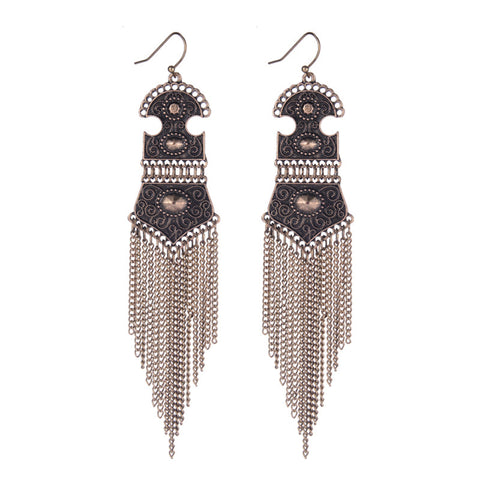 Bohemian Tassel Drop Earings